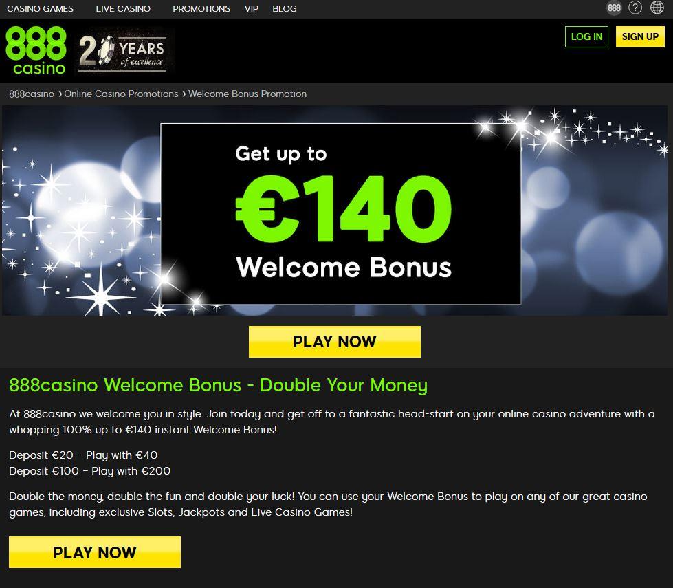 De website van 888 casino